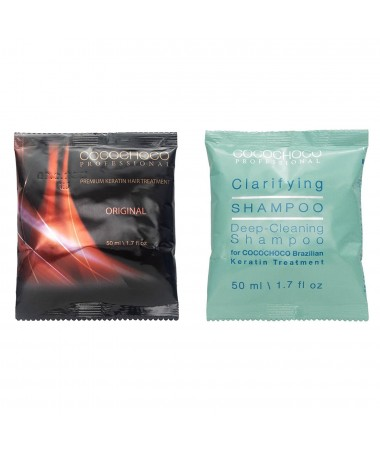 Brasilianisches Keratin Original 50ml + Reinigungs Shampoo 50ml COCOCHOCO