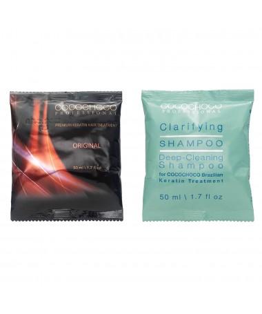Braziliaanse keratine Original 50ml + Reinigende shampoo 50ml COCOCHOCO