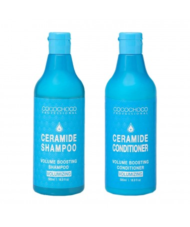 Ceramide-shampoo 500ml + Ceramide-conditioner voor volume 500ml COCOCHOCO