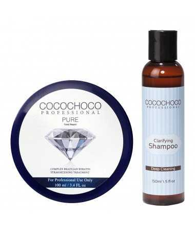 COCOCHOCO Professional Pure Brazilský Keratin 1000ml + COCOCHOCO Professional Čistící Šampón 400ml