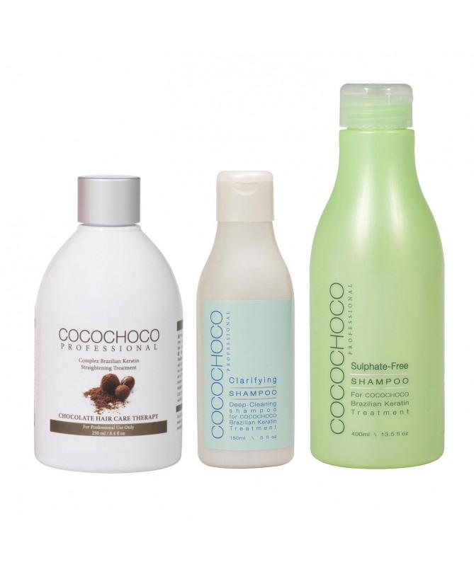 50ml Brazilský keratin + 20ml Čistící šampón