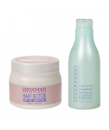 Haar Botox 500ml + Reinigende shampoo 400ml COCOCHOCO