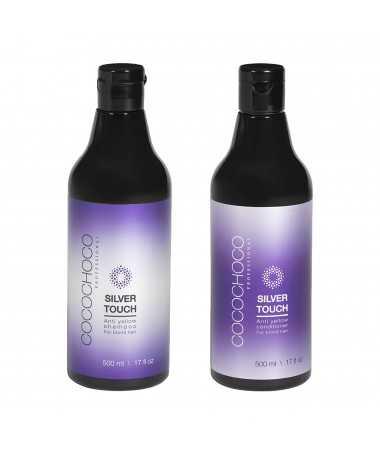 Shampoo senza solfati Anti-Yellow + Anti-Yellow Silver Touch conditioner 500ml COCOCHOCO