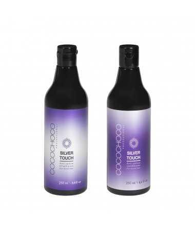 Anti-Yellow sulfaatvrije shampoo + Anti-Yellow conditioner Silver Touch 250ml COCOCHOCO